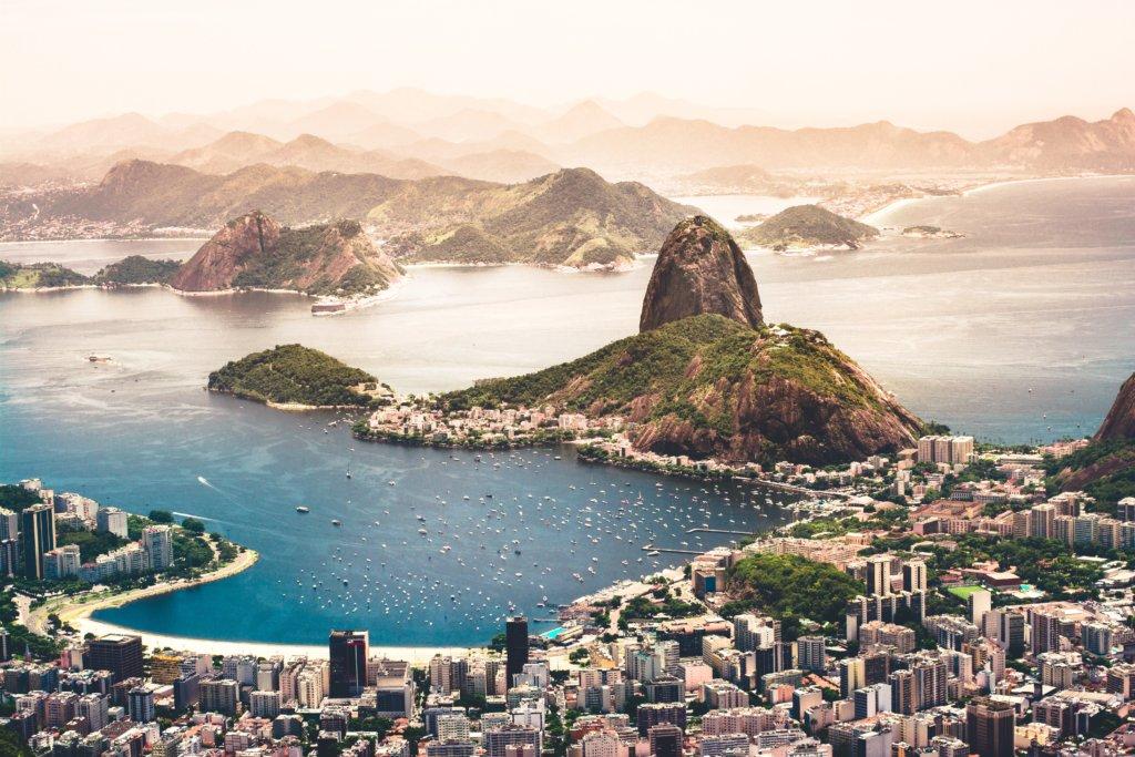 Vista da Pedra da Urca, no Rio de Janeiro.