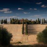 Imagem de campo na Toscana