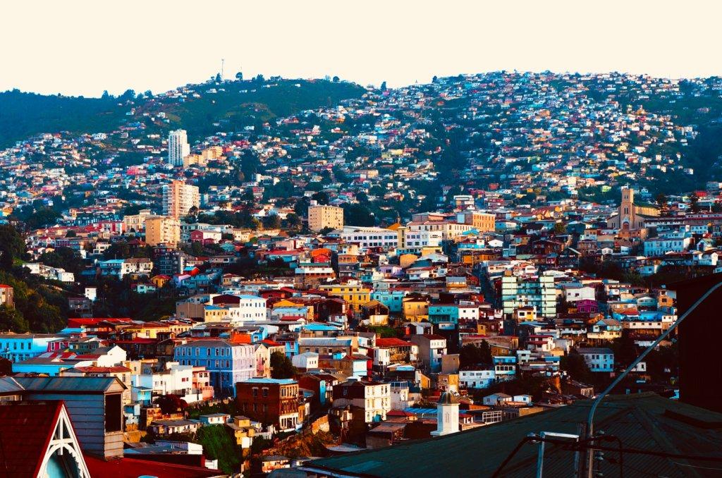 Paisagem de Valparaíso.
